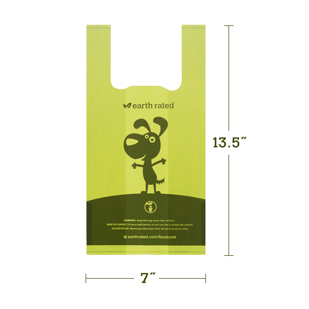 120 Count Earth Rated Lavender Scented Dog Waste Bags With Handles Not On Rolls Chien De Luxe